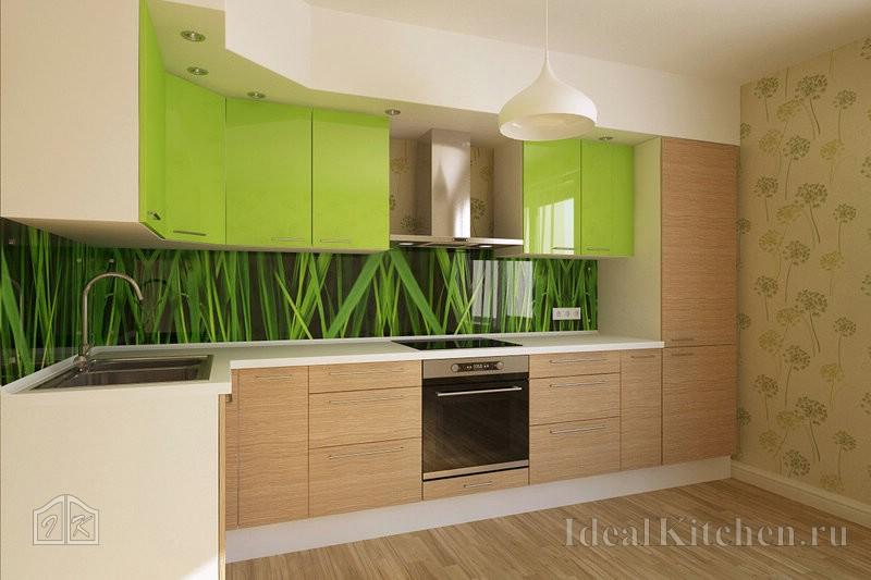 дизайн интерьера кухни с обоями Rasch