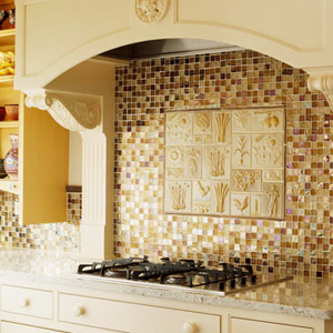 Мозаичная плитка на кухне
