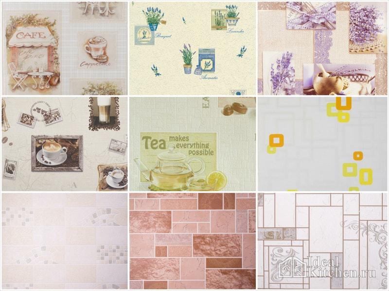 примеры кухонных обоев из каталога Леруа Мерлен