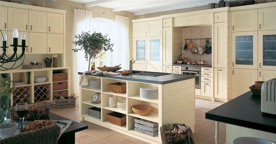 Плетеные корзины в интерьере кухни