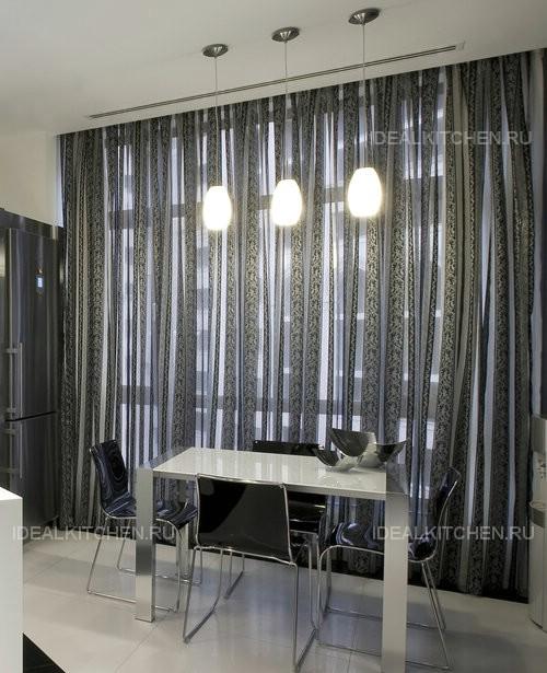 Дизайн штор для кухни — 95 отличных