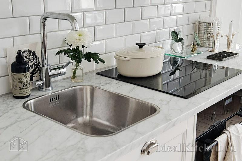 Spüle Edelstahl-Küche