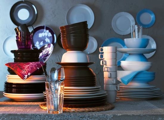 Фарфор и керамика в дизайне кухни