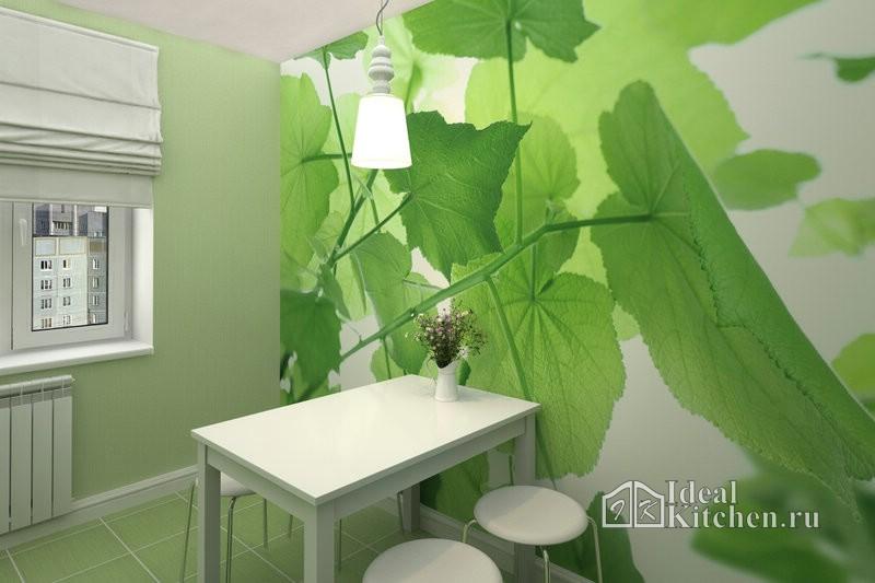 фотообои с зелеными листьями