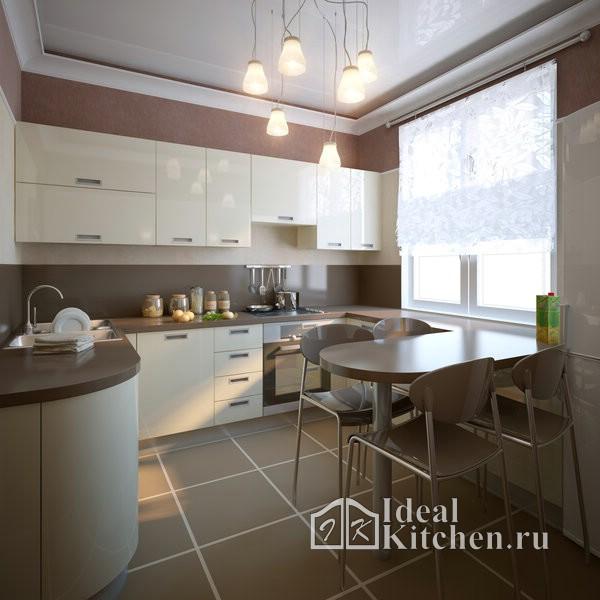 кухни в квартире-студии