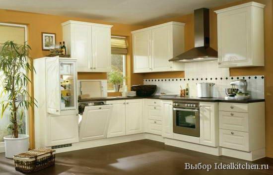 Угловая кухня Glamour . Материал ЛДСП Тиковое дерево