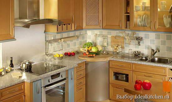 модульная угловая мебель для маленькой кухни