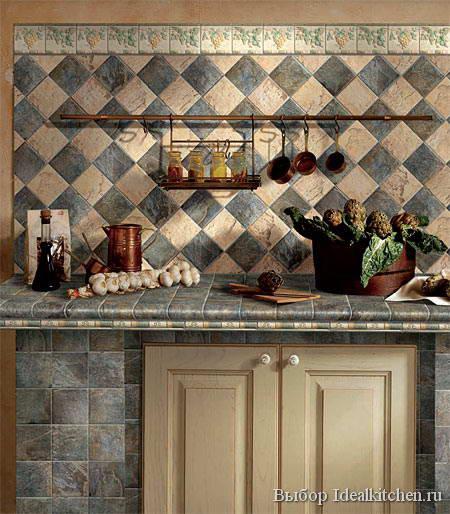 настенная плитка для кухни в стиле кантри