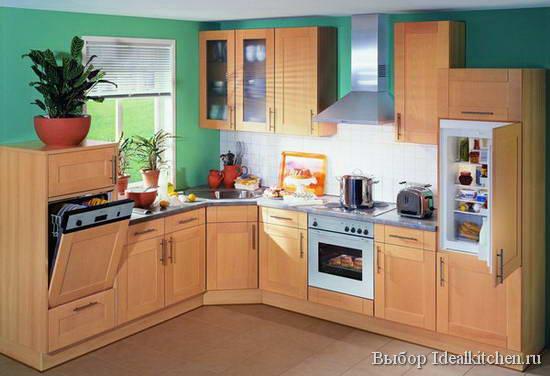 кухонный гарнитур с угловой мойкой