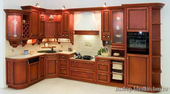 кухонный гарнитур с угловой мойкой и подсветкой
