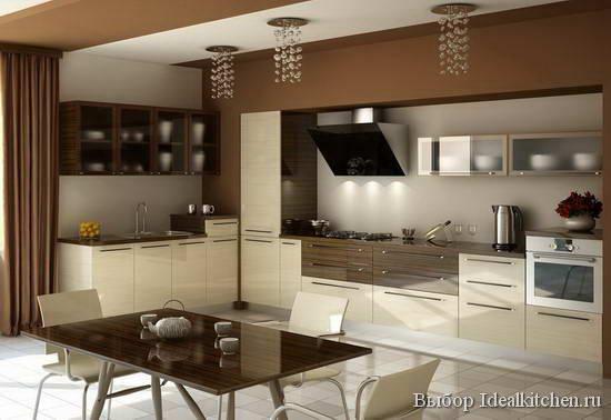 угловой кухонный гарнитур в стиле минимализм