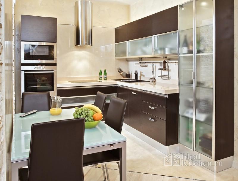 фото кухни в стиле хай-тек 9 кв. м