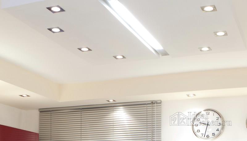 врезные светильники