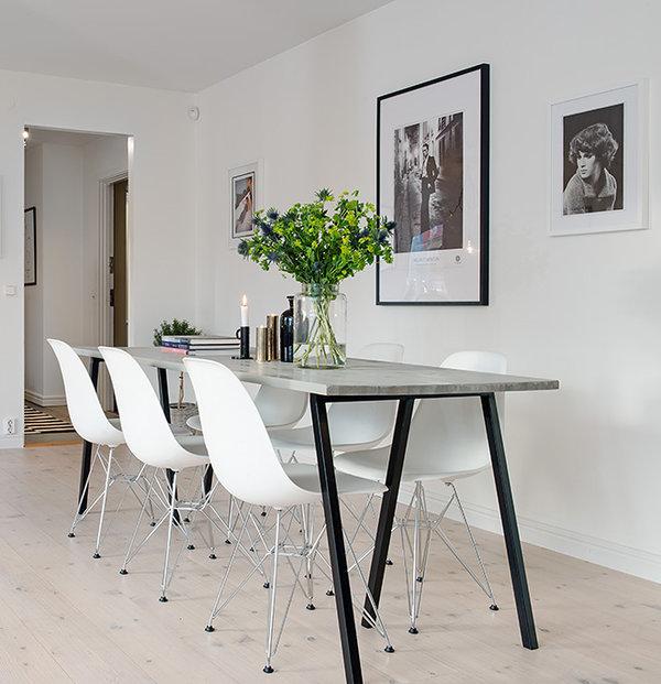 пример дизайна столовой в стиле минимализм