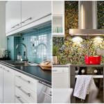 яркий фартук на кухне в скандинавском стиле