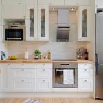 маленькая кухня в стиле сканди