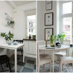 маленькие обеденные столы и стулья в скандинавском стиле