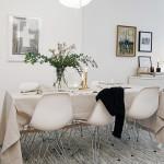большой обеденный стол для гостиной-столовой