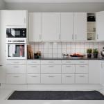 темный ковер в интерьере кухни-студии
