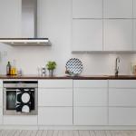 стильная белая кухня в стиле скандинавский минимализм
