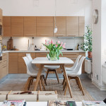 Кухня из дерева в скандинавском стиле