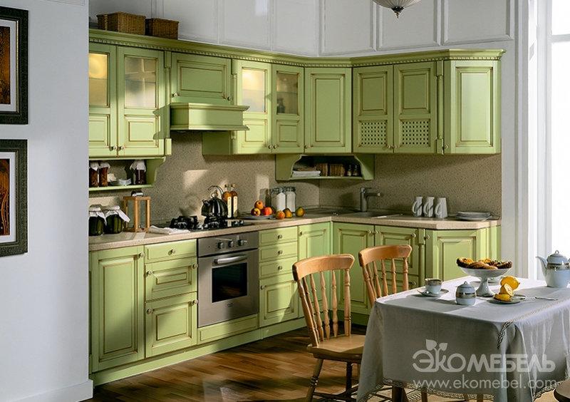 Кухня из натурального дерева элина