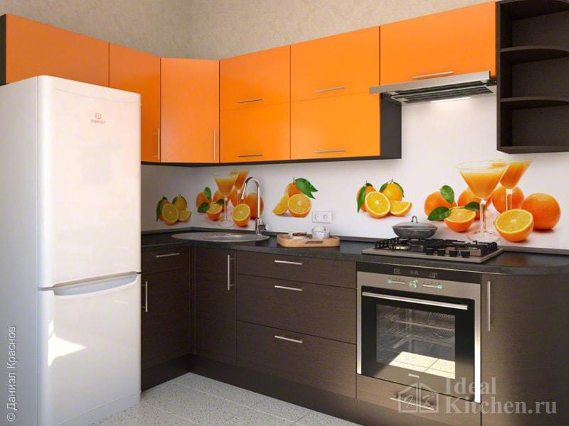 оранжевый с венге