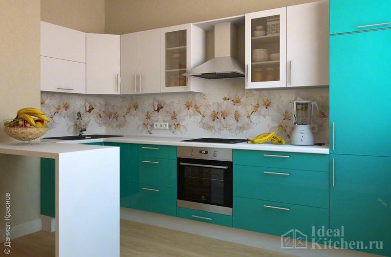 глянцевая кухня из МДФ/эмаль