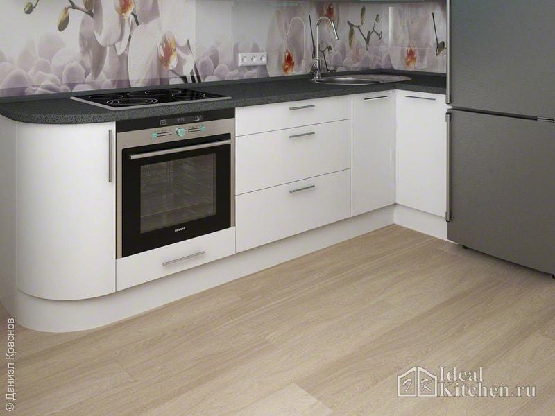 влагостойкий ламинат в интерьере кухни