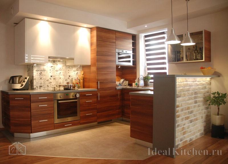 пример дизайна кухни гостиной