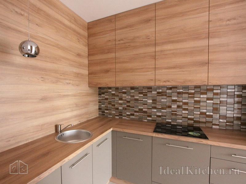 стильный дизайн угловой кухни