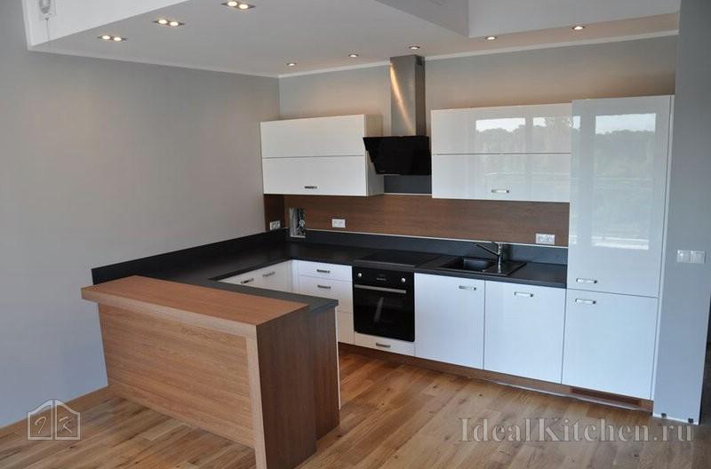 фото современной кухни в квартире студии