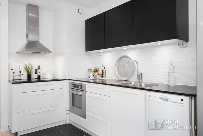 черно белые кухни 101 фото в интерьере лучшие идеи оформления